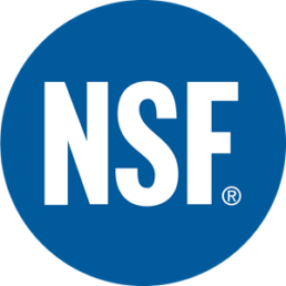 Logo NSF International - Toilettes sans contact