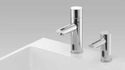 Robinet et distributeur de savon sans contact - Lavage des mains - Toilettes sans contact