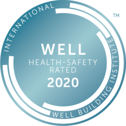 Logo WELL Health-Safety 2020 - Toilettes sans contact